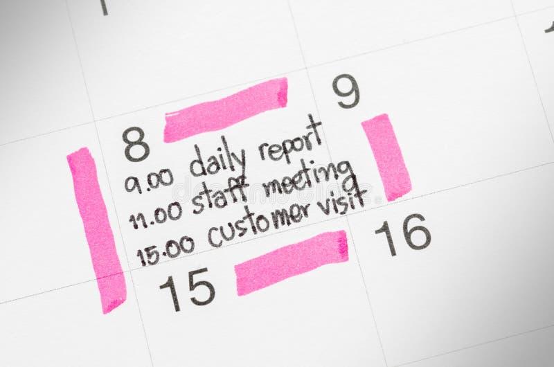 Супер занятый стресс календаря стоковое изображение