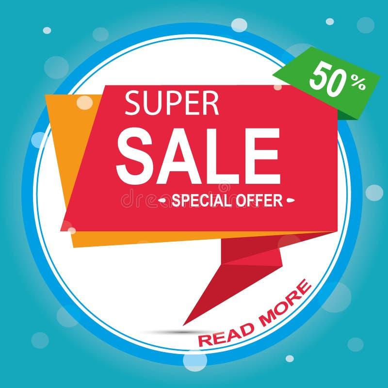 Супер знамя стрелки продажи Большая продажа, зазор 50  также вектор иллюстрации притяжки corel бесплатная иллюстрация