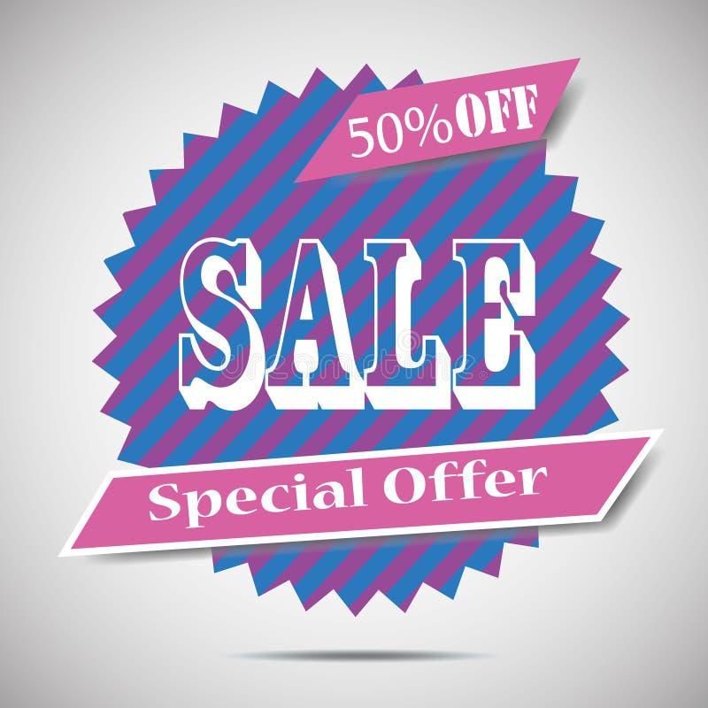 Супер знамя стрелки продажи Большая продажа, зазор 50  также вектор иллюстрации притяжки corel иллюстрация штока