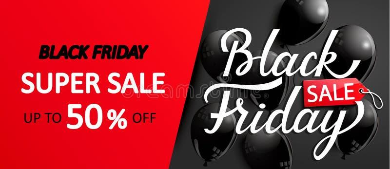 Супер карточка продажи на черная пятница бесплатная иллюстрация