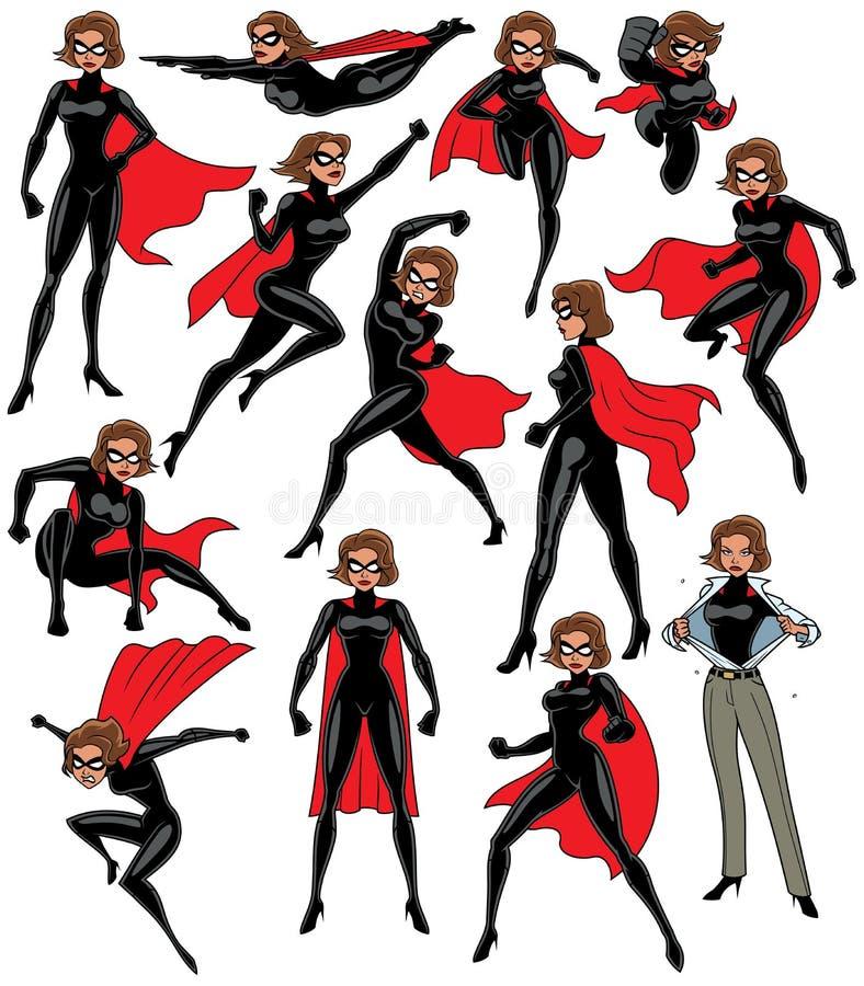 Супер комплект героини иллюстрация штока