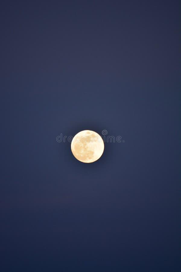 Супер луна на заходе солнца до затмения луны крови стоковое изображение rf
