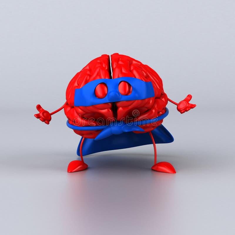 Супер мозг иллюстрация штока