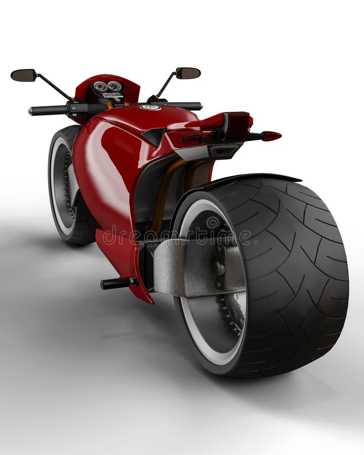 Супер мотоцикл custon иллюстрация штока