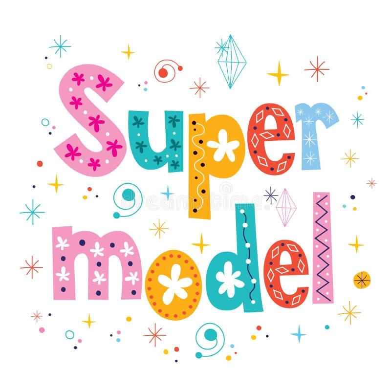 Супер модельный декоративный тип дизайн литерности бесплатная иллюстрация