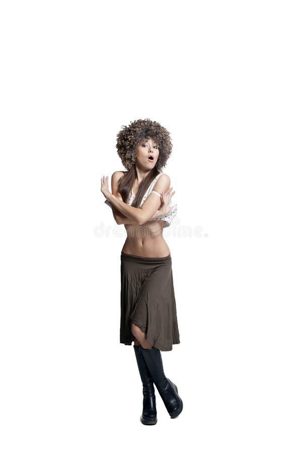 Супер сексуальная девушка стоковое изображение rf