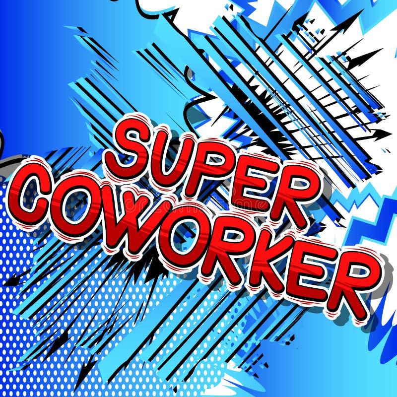 Супер сотрудник - слова стиля комика бесплатная иллюстрация