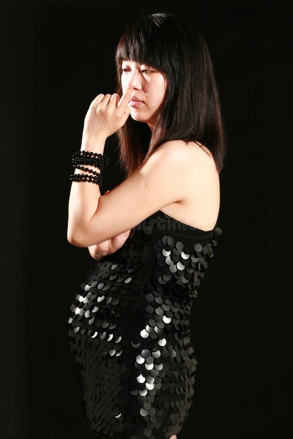 Супоросая женщина способа Азии стоковая фотография