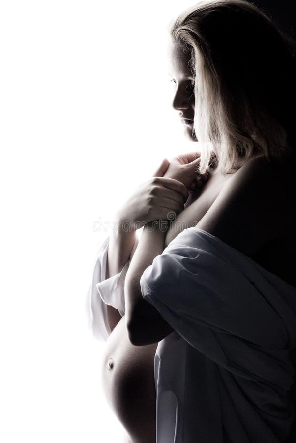 супоросая заботливая женщина стоковые фото