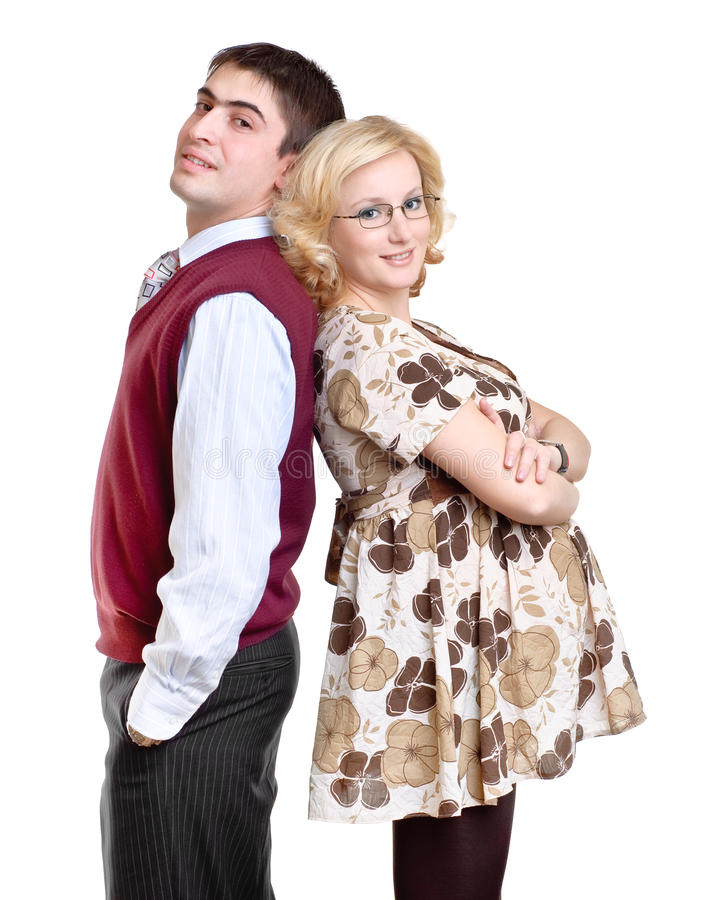 супруга пар счастливый супоросый стоковые фото