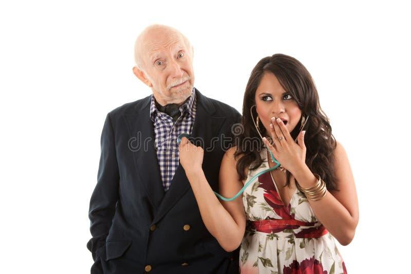 супруга человека золота землекопа товарища стоковое фото