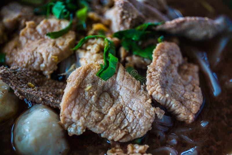 Суп лапши говядины, конец вверх стоковое изображение