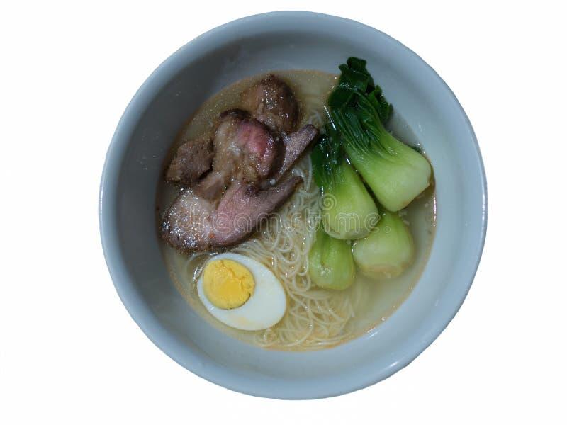 Суп лапши свинины жаркого стоковое изображение rf