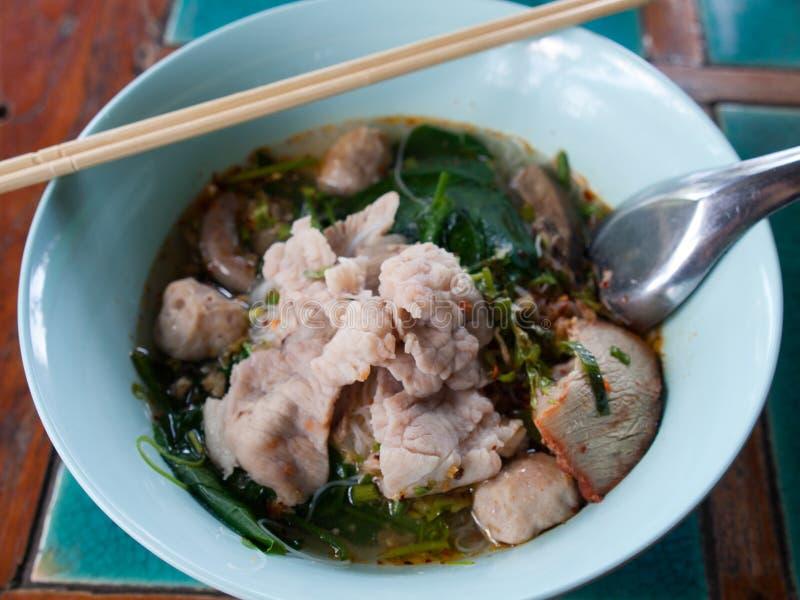 Суп лапши свинины стоковые изображения rf