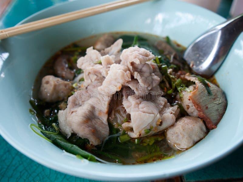Суп лапши свинины стоковые фотографии rf