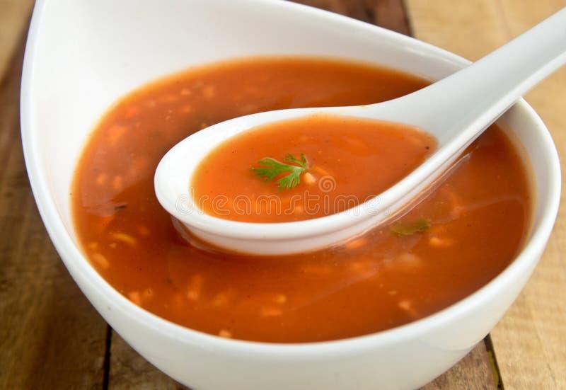 Суп лапши томата стоковые изображения rf