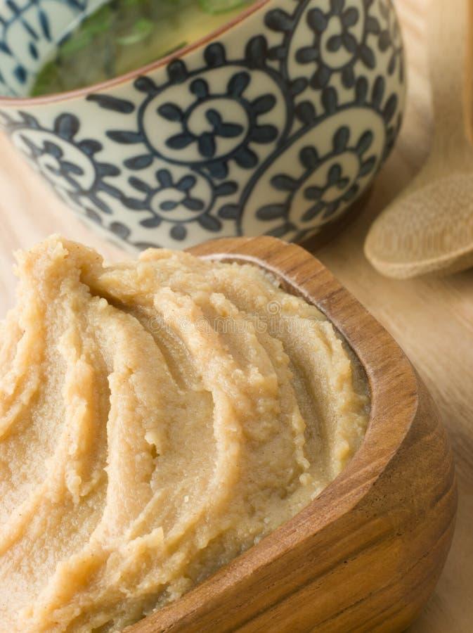 суп бака затира miso dashi стоковое изображение