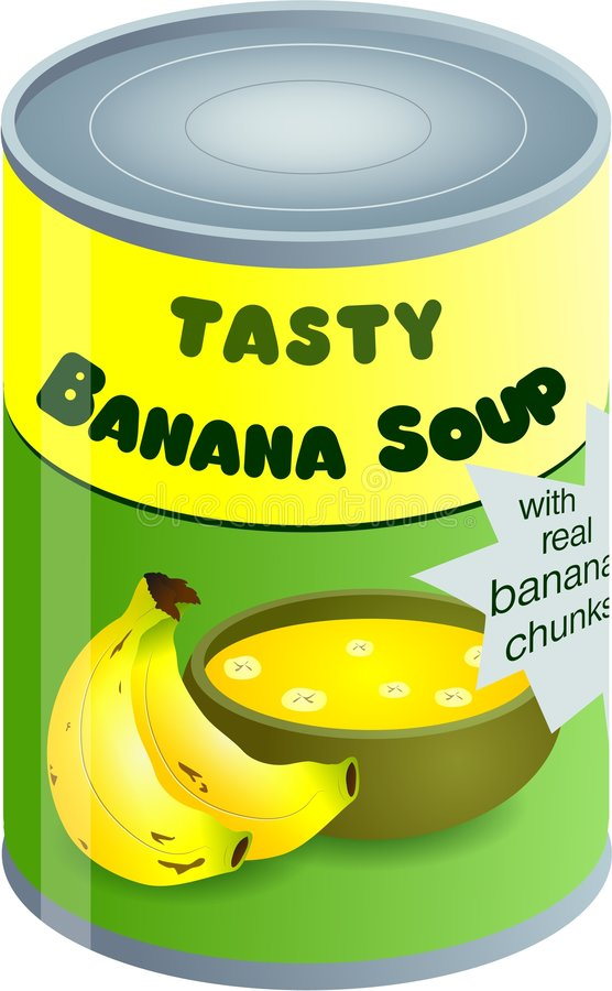 суп банана иллюстрация вектора
