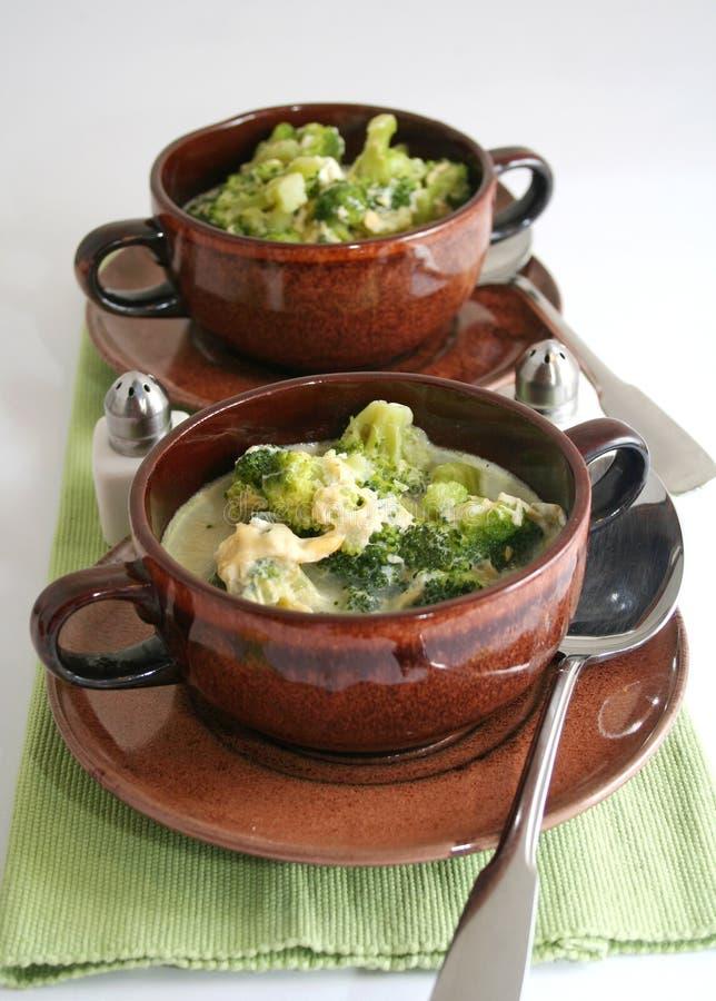 Суп брокколи стоковое изображение rf