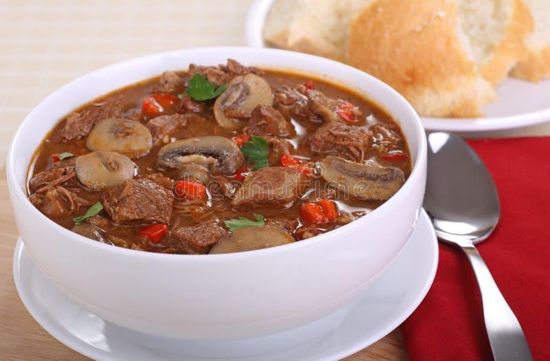 Суп говядины и гриба стоковые изображения