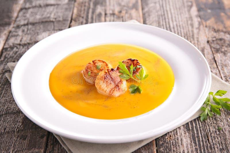 Суп и морепродукты стоковые изображения