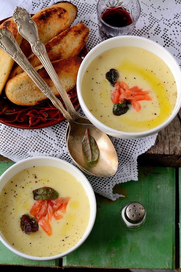 Суп картошки cream стоковые фото