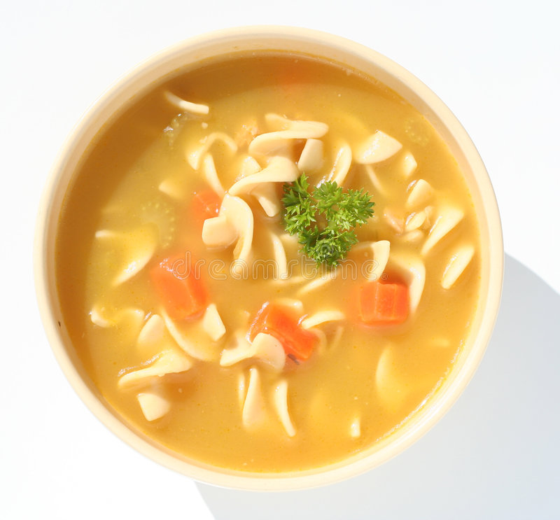 суп лапши цыпленка стоковые изображения rf