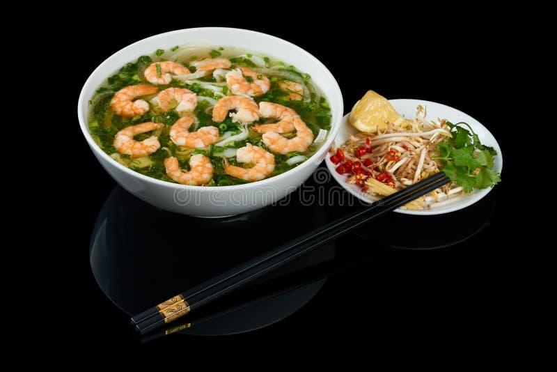 Суп лапши Pho Тома стоковое изображение rf