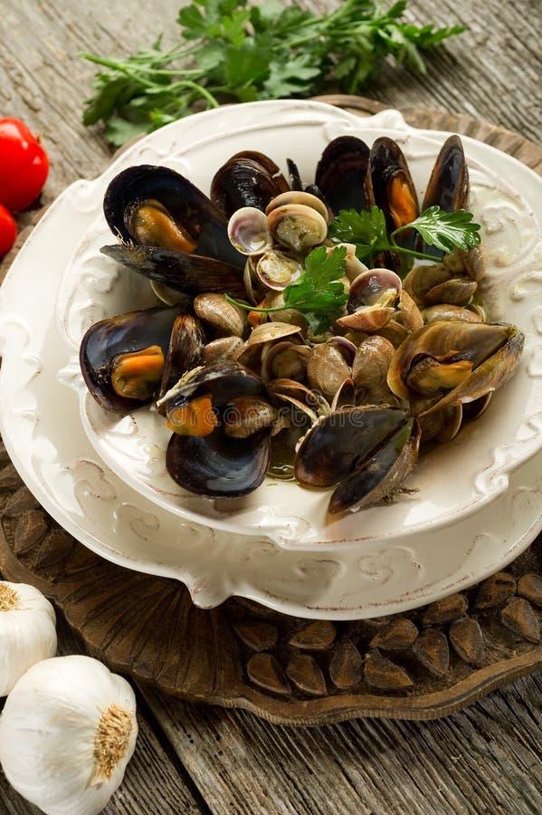 суп мидии clam стоковое изображение