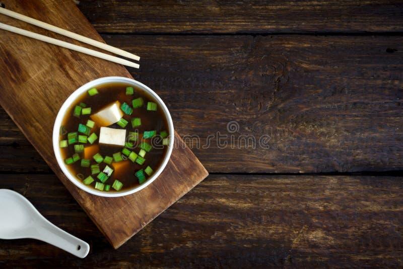 Суп мисо стоковые изображения rf