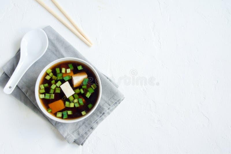 Суп мисо стоковые изображения