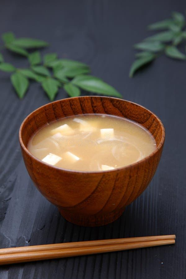 Суп мисо стоковое фото