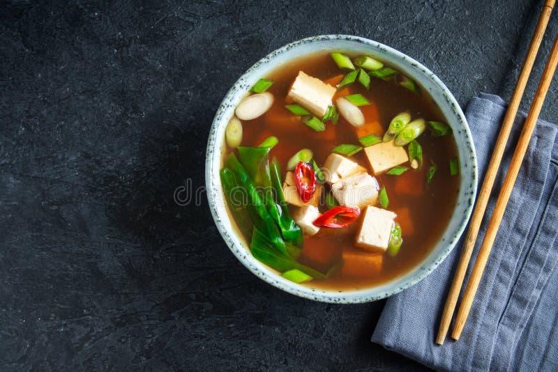 Суп мисо стоковое изображение rf