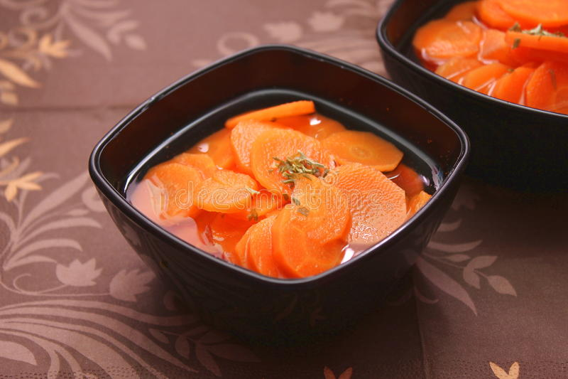 Суп морковей стоковое фото