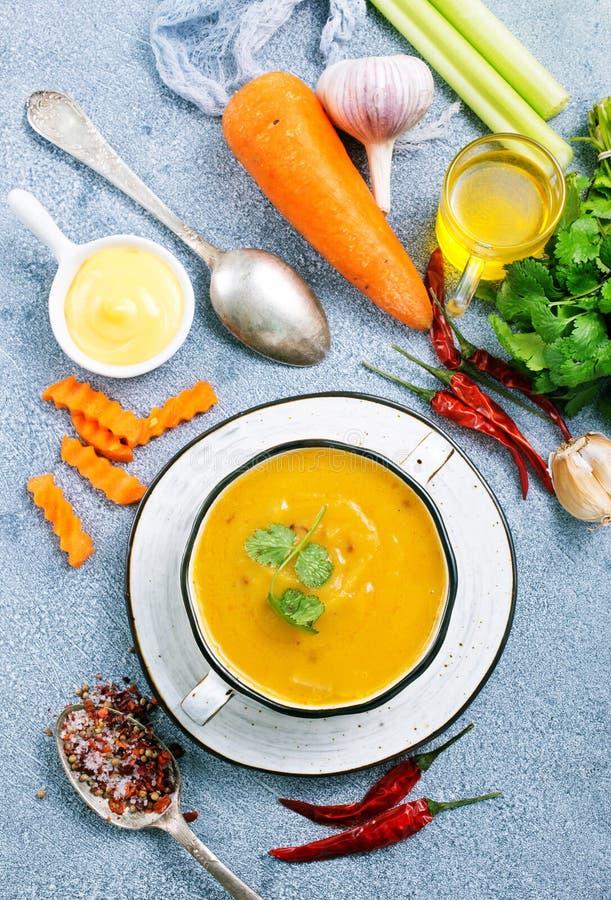 Суп моркови стоковое фото