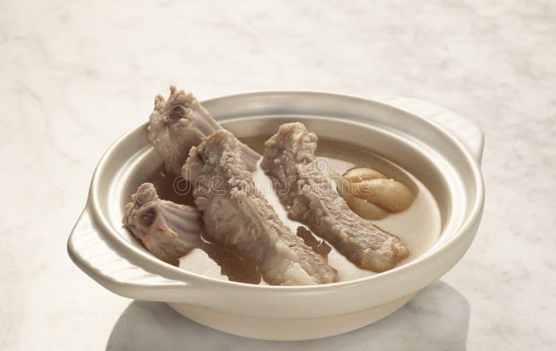 Суп нервюры свинины стоковая фотография rf