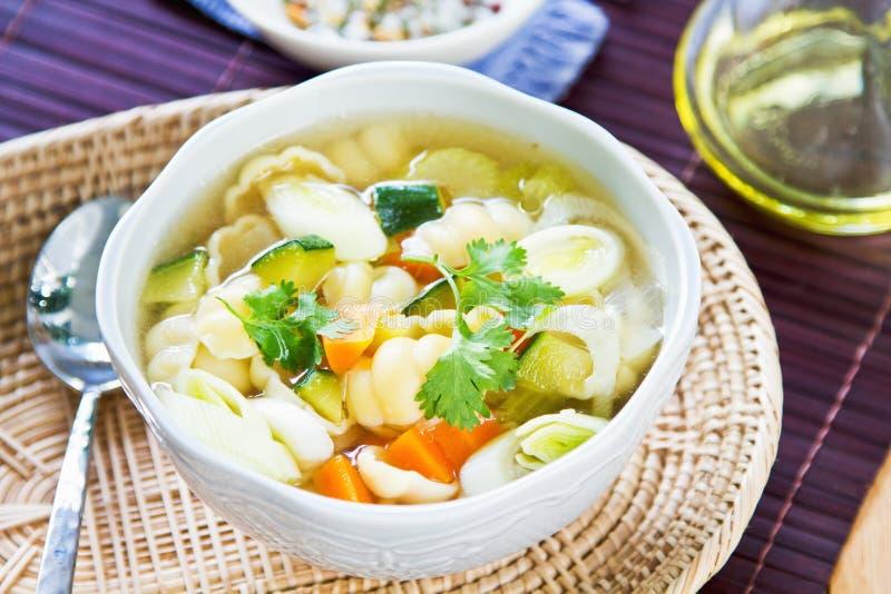 Суп овощей с макаронными изделиями стоковые фото