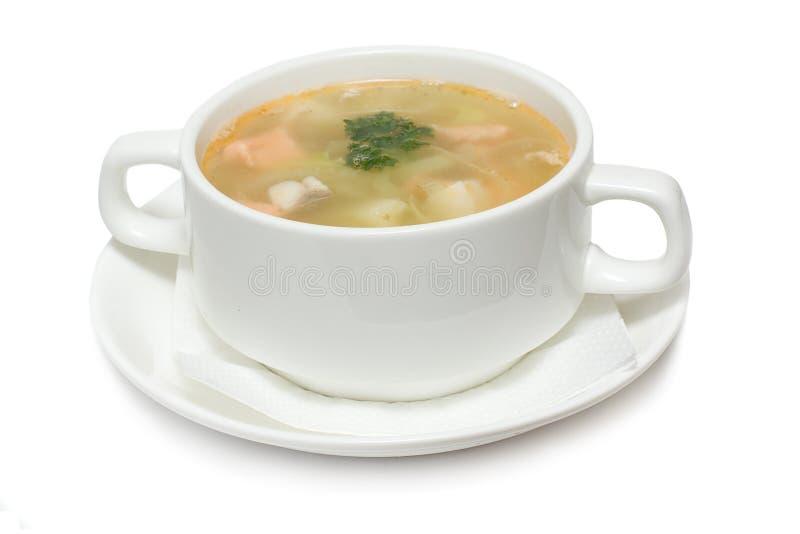 суп продуктов моря стоковое фото