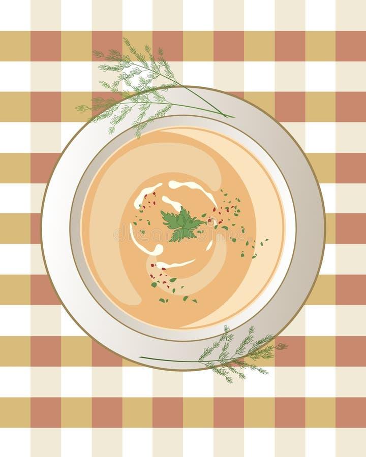 суп ресторана еды цыпленка китайский иллюстрация штока
