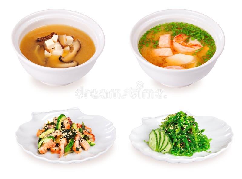 суп салата japanesse стоковые фотографии rf