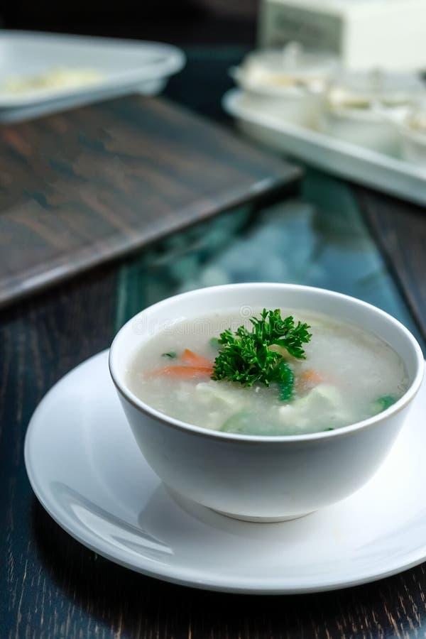 Суп сладкой мозоли Veg стоковые фотографии rf