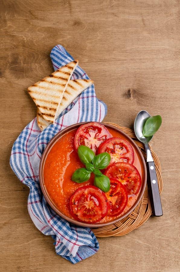 Суп сливк домодельного овоща красный стоковые изображения rf