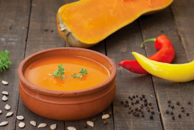 суп тыквы традиционный стоковые фото
