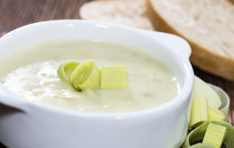 Суп лук-порея стоковая фотография