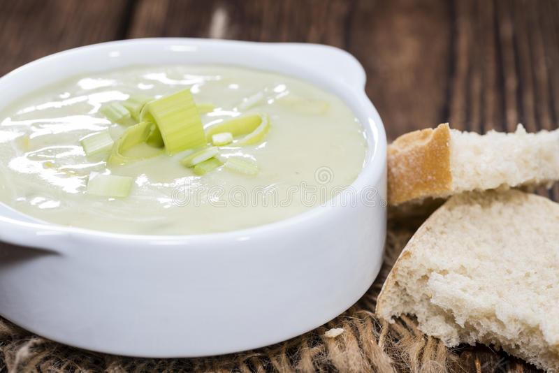 Суп лук-порея стоковые изображения