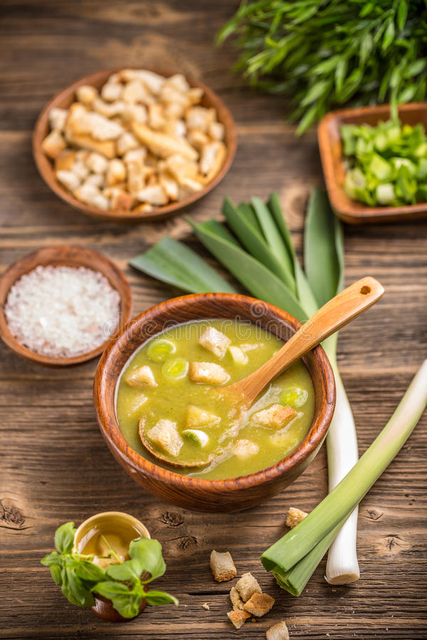 Суп лук-порея стоковые изображения rf