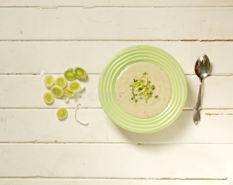 Суп лук-порея стоковая фотография rf