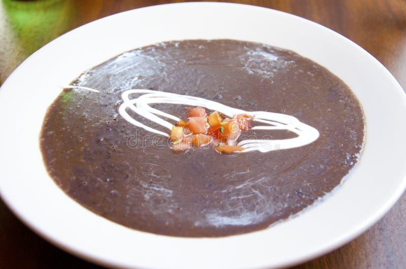 суп фасоли черный стоковое изображение rf