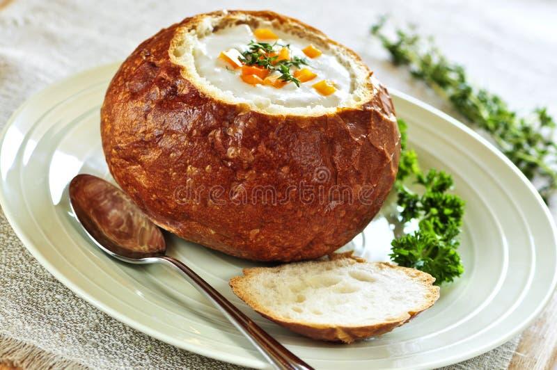 суп хлеба шара стоковая фотография rf