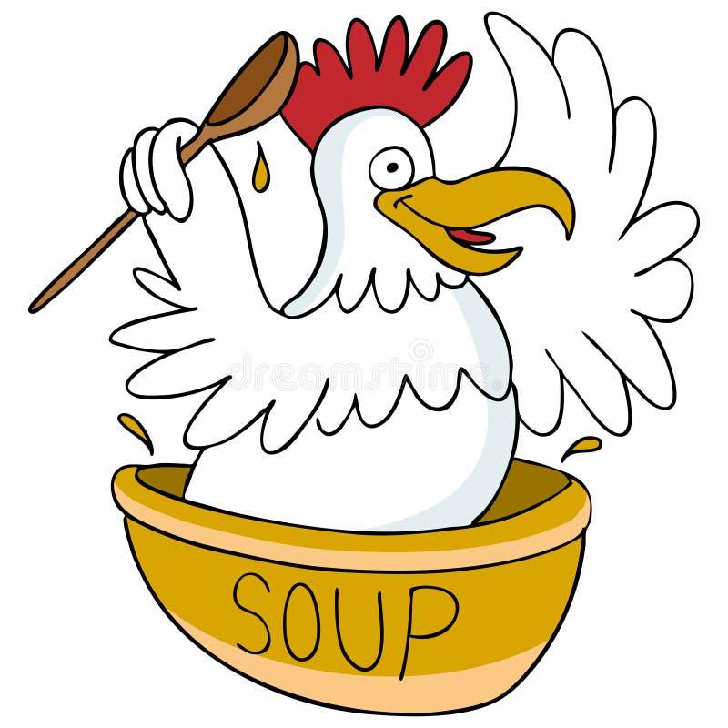 суп цыпленка иллюстрация штока